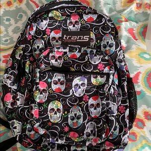 Sugar Skull Trans by Jansport backpack